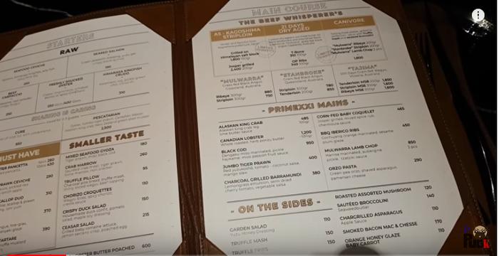 Mới nhìn sơ sơ giá mỗi món trong menu nhà hàng Khoa Pug review đã thấy ngon rồi.