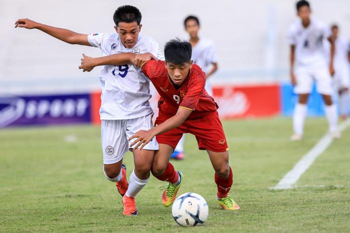 U15 Việt Nam đã đánh mất lợi thế quá nhanh.