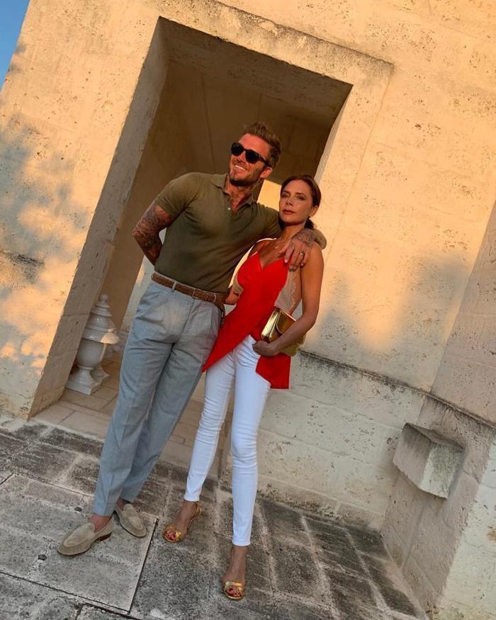Được biết gia đình David Beckham đã tới Puliga, Ý để du lịchvà tận hưởng mùa hè cùng nhau.