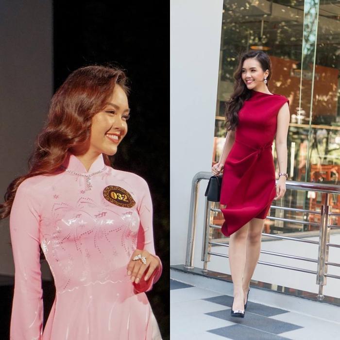 """Thêm một nữ sinh nữa được dân tình tìm thấy ở """"vựa"""" gái xinh này là Nguyễn Hoàng Mỹ Vân. Cô bạn sở hữu vẻ đẹp hiện đại, lôi cuốn. Ở một số góc chụp, Á khôi 1 của trường nhìn khá giống """"My Sói"""" – diễn viên Thu Quỳnh."""