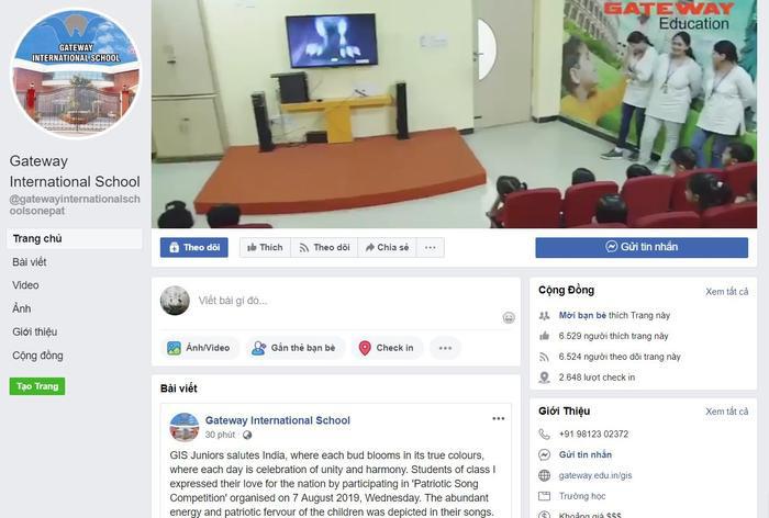 Trang fanpage của trường Gateway Ấn Độ trở thành nơi trút giận của cư dân mạng Việt Nam. Ảnh chụp màn hình