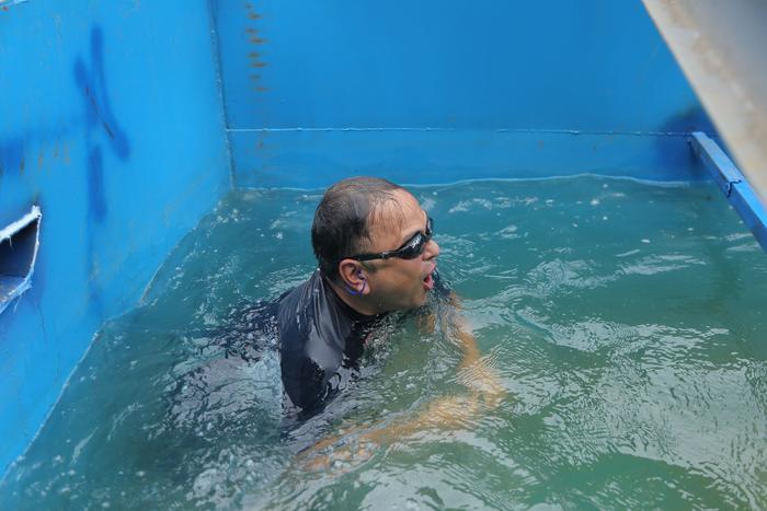 Nước sông Tô Lịch sau khi đã qua xử lý rất trong và không có mùi hôi.