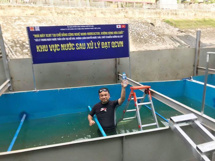 Ông Nguyễn Tuấn Anh, Chủ tịch HĐQT JVE cho biết, công nghệ Nano Bioreactor hoàn toàn xử lý được triệt để vấn đề nước thải hàng ngày đổ vào khu xử lí mà không cần thu gom. Đây là mô hình nhà máy xử lý nước thải tại chỗ và nước thải hàng ngày đổ vào được xử lý trong ngày.