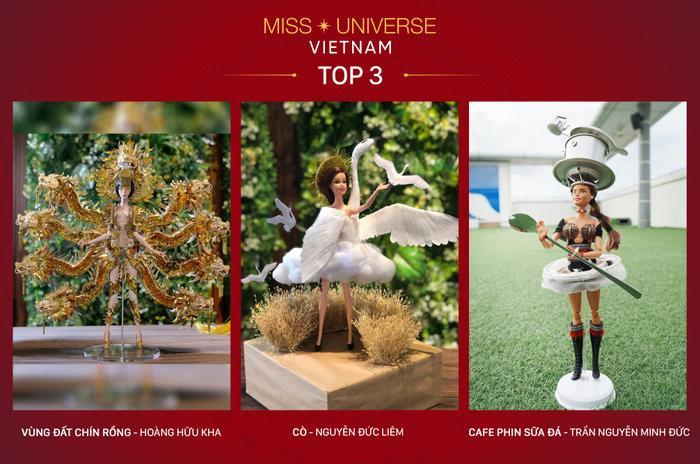 Top 3 thiết kế trang phục dân tộc có cơ hội được á hậu Hoàng Thùy trình diễn tại Miss Universe 2019.