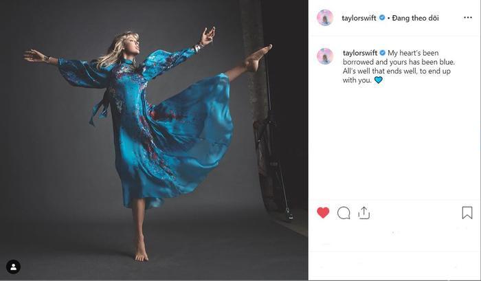 Không quên quảng bá cho album Lover, Taylor đã nhá hàng một câu nhạc đẫm chất lãng mạn sẽ có trong sản phẩm sắp ra mắt của cô.
