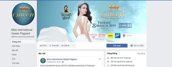 Ngay lúc này Hương Giang vẫn chiếm sóng ảnh bìa của Miss International Queen