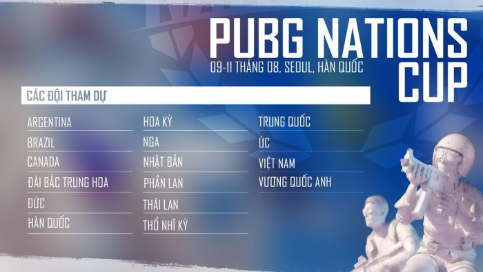 [PUBG] World Cup dành cho PUBG chuẩn bị khởi tranh. Việt Nam được đặt nhiều kì vọng. ảnh 0
