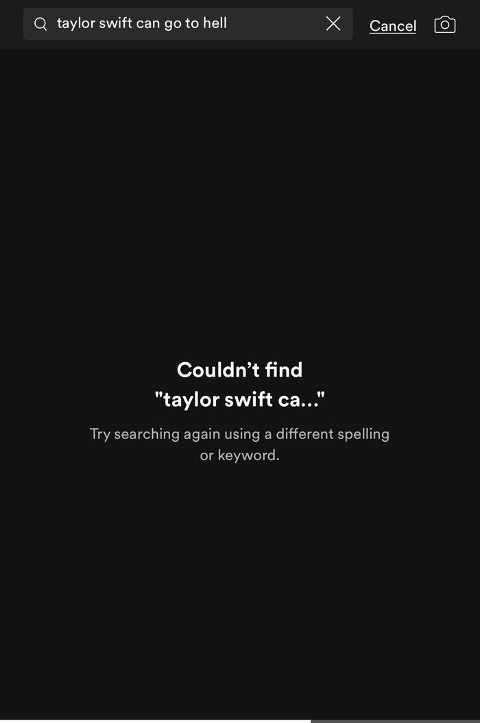 Ca khúc đã bị xóa bỏ ở tất cả các phương tiện âm nhạc.
