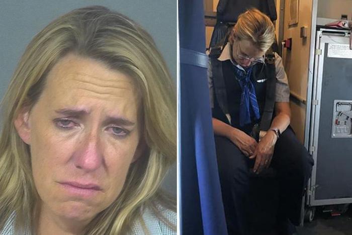 Nữ tiếp viên uống 2 ly rượu vodka rồi ngủ li bì trong suốt chuyến bay, hành khách phải thắt dây an toàn cho cô ta ảnh 0