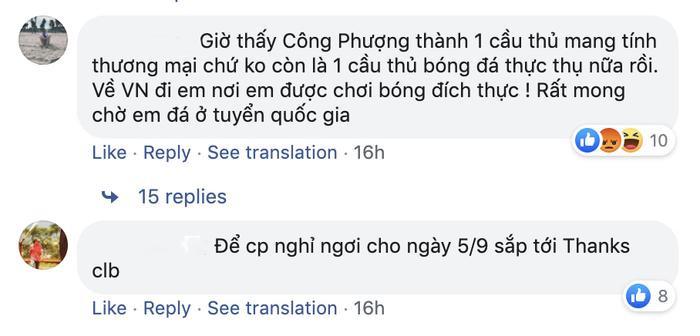 Bình luận gây bức xúc của một người hâm mộ bóng đá Việt Nam trên Facebook STVV.