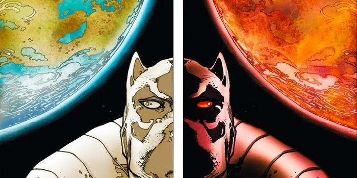 Khái niệm về Đa vũ trụ xuất hiện vô cùng thường xuyên trong phiên bản truyện tranh.