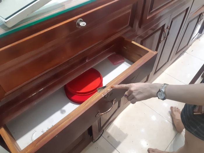 Nhiều tài sản trong nhà anh Hiệp bị trộm khoắng sạch.