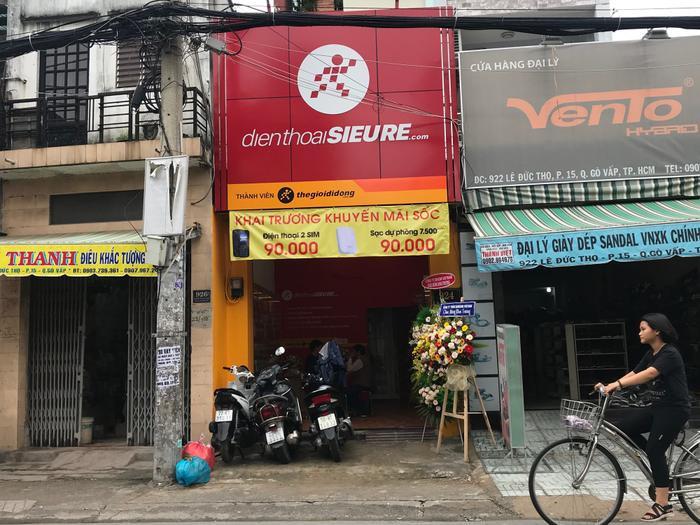 Cửa hàng Điện thoại Siêu rẻ đầu tiên tại quận Gò Vấp, TP. HCM với diện tích và mặt tiền khiêm tốn.