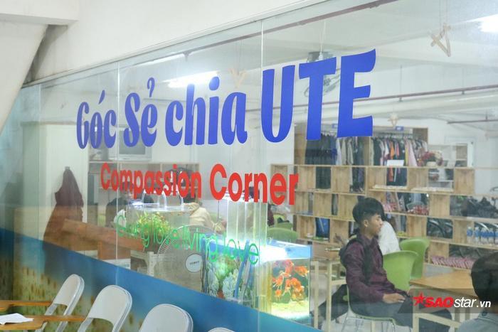 Góc sẻ chia nằm tại tầng hầm của Tòa nhà Trung tâm trường ĐH Sư phạm kỹ thuật TP.HCM