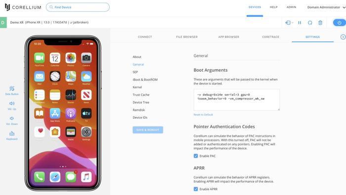 Một chiếc iPhone đã giả lập trên trang web của Corellium được sử dụng làm bằng chứng trong vụ kiện của Apple chống lại công ty.