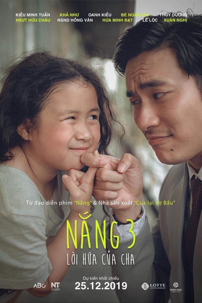 Kiều Minh Tuấn tái xuất trong 'Nắng 3: Lời hứa của cha', hứa hẹn lấy đi nước mắt của khán giả đúng dịp Giáng sinh 2019.