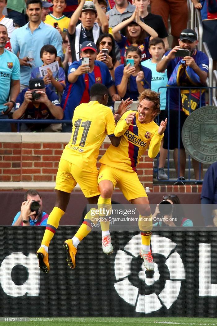 Griezmann và Dembele sẽ lĩnh xướng hàng công của Barca trong thời gian tới.