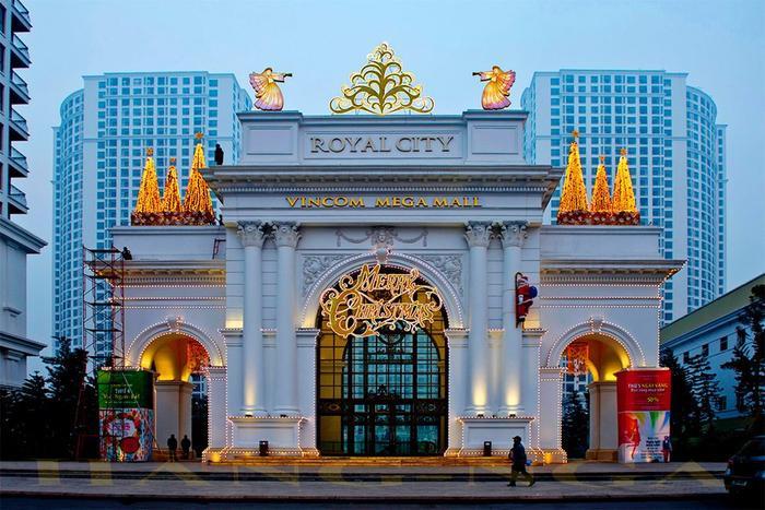 Royal City là khu tổ hợp trung tâm thương mại, vui chơi giải trí bậc nhất Hà Nội. (Ảnh: flynow)