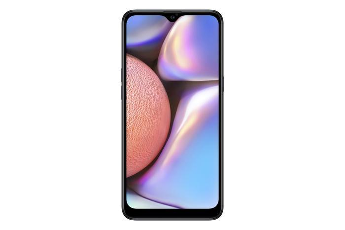 Galaxy A10s sở hữu thiết kế màn hình vô cựcInfinity-V 6.2 inch cùng bảo mật vân tay một chạm.