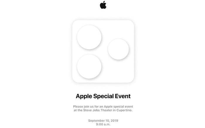 Bức thư mời sự kiện cuối năm của Apple nổi bật với hình ảnh ba vòng tròn được đặt trong hình vuông. (Ảnh:Techoinfomer)