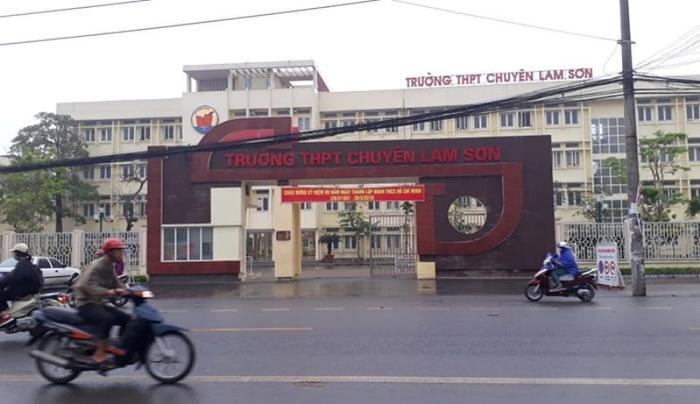 Trường THPT chuyên Lam Sơn. Ảnh: báo Lao động