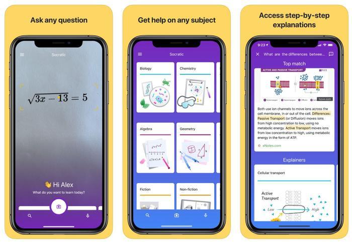 Ứng dụng hỗ trợ giải bài tập Socraticcủa Google có khả năng giúp đỡ học sinh giải quyết những bài tập nhờ khó nhờ trí tuệ nhân tạo (AI).