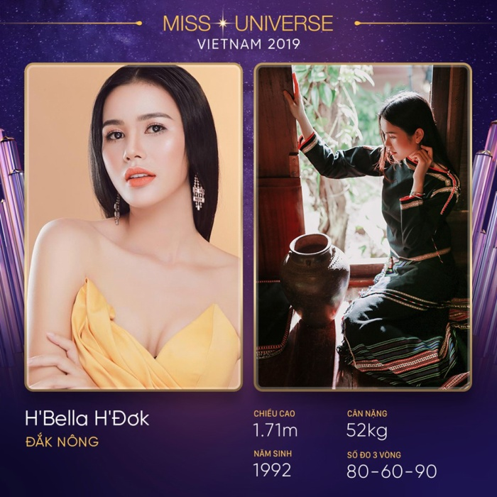 Bella cũng là một nhân tố tiềm năng với vẻ ngoài ngọt ngào, chiều cao chuẩn và hình thể quyến rũ. Tuy nhiên, quy định về đuổi khiến cô nàng gác lại ước mơ đến với gia đình Miss Universe Vietnam.