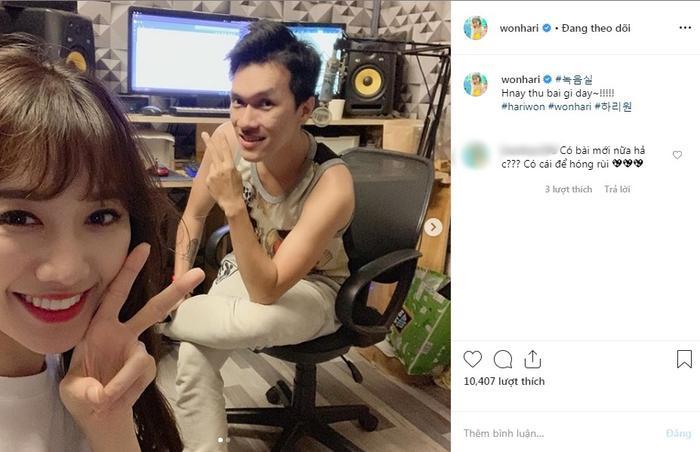 Hình ảnh và dòng trạng thái mới nhất của Hari Won được chia sẻ trên Instagram.