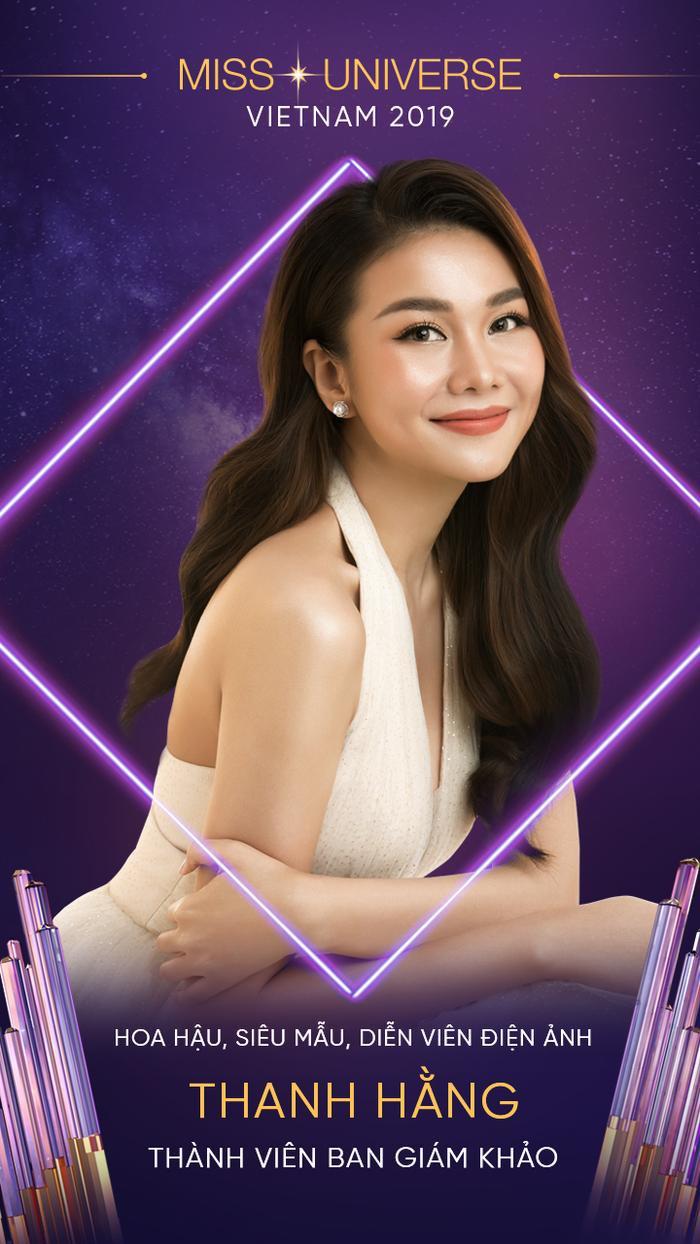 Hoa hậu, siêu mẫu, diễn viên điện ảnh Thanh Hằng là thành viên có đầy sức hút với các fan trong dàn giám khảo Hoa hậu Hoàn vũ Việt Nam 2019.