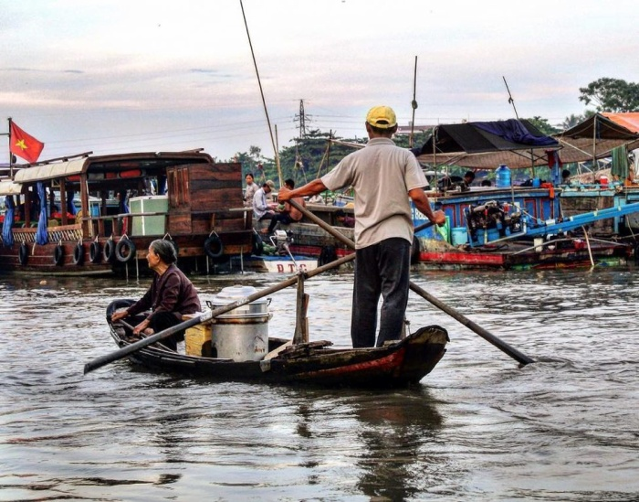 Cần Thơ được vinh danh trong danh sách 9 thành phố sở hữu hệ thống kênh đào đẹp nhất thế giới. (Ảnh: @lifeopantaitai)