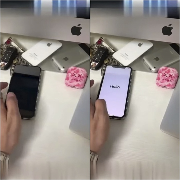 """Khác với các mô hình iPhone 11 trước đó, chiếc iPhone 11 Pro trong đoạn video rò rỉ này đang chạy hệ điều hành iOS và không có """"chiếc cằm"""" gây mất thẩm mỹ."""