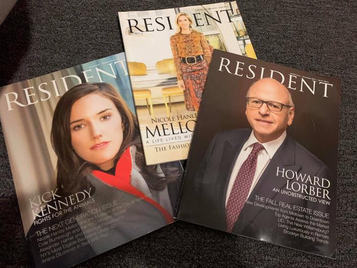 Bìa tạp chí Resident do Minh Đức thiết kế.