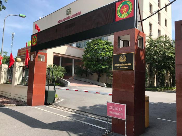 Công an quận Long Biên.