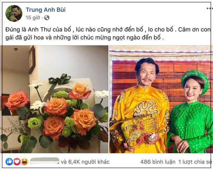NSND Trung Anh tự hào khoe lẵng hoa của Bảo Thanh trước ngày nhận danh hiệu cao quý ảnh 0
