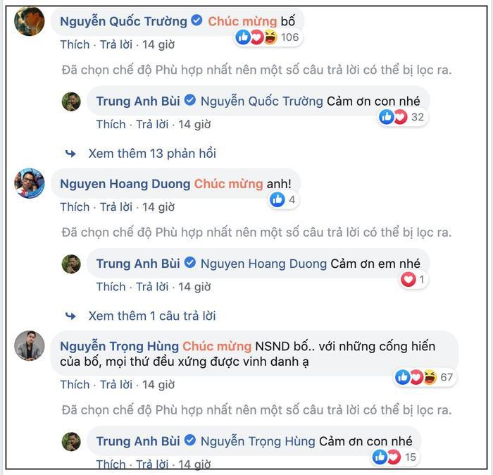 NSND Trung Anh tự hào khoe lẵng hoa của Bảo Thanh trước ngày nhận danh hiệu cao quý ảnh 4
