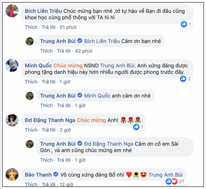 NSND Trung Anh tự hào khoe lẵng hoa của Bảo Thanh trước ngày nhận danh hiệu cao quý ảnh 3