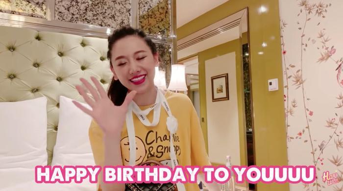 Hari Won được Trấn Thành hát tặng sinh nhật.