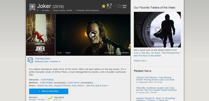 Con số 9,7 thể hiện độ phủ sóng, cũng như tình yêu thương của khán giả dành cho phim.