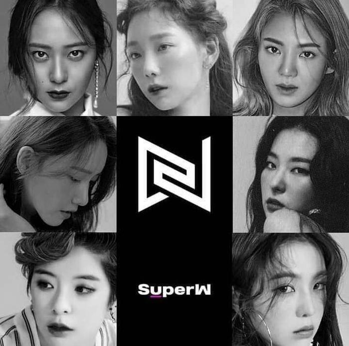 """Tấm poster của nhóm nữ mang tên SuperW đang khiến cộng đồng fan Kpop """"đảo điên""""."""