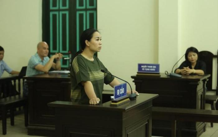 Nguyễn Thị Vân tại phiên toà.