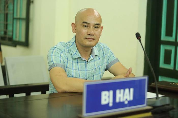 Anh Thiện tại phiên toà hồi tháng 4/2019.