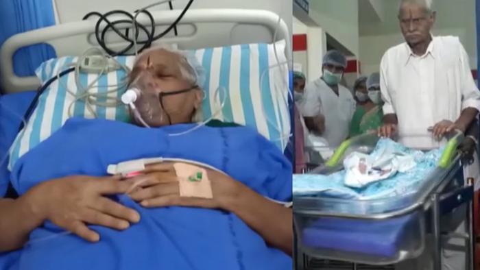 BàErramatti Mangayamma sinh 2 con gái bằng phương pháp thụ tinh trong ống nghiệm.