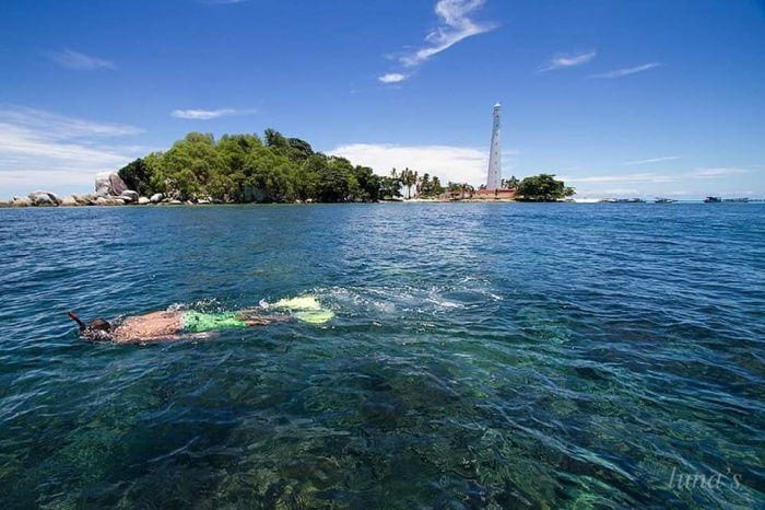 Đảo Lengkuas thuộc vùng Belitung.