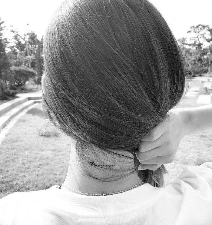 Taeyeon (SNSD) lần đầu tiết lộ ý nghĩa hình xăm sau gáy.