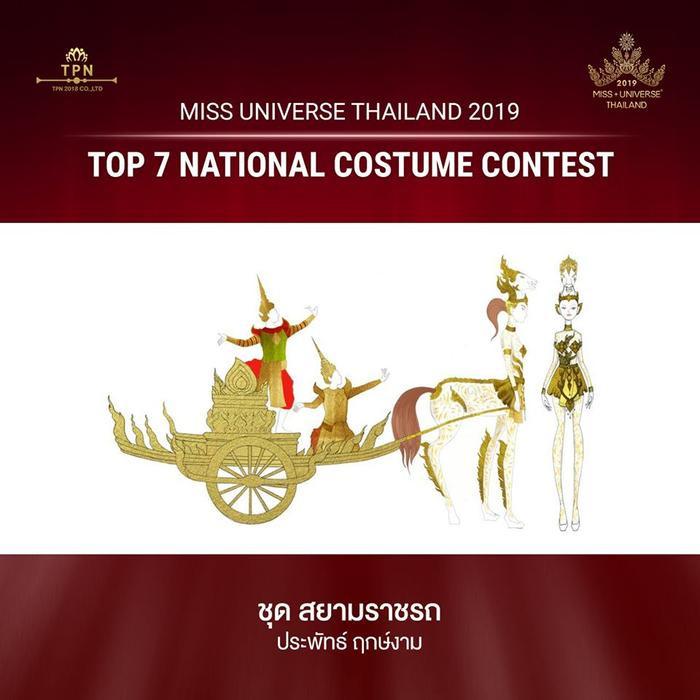Sự kết hợp giữa phương tiện di chuyển truyền thống với hình nữ thần của Thái Lan.