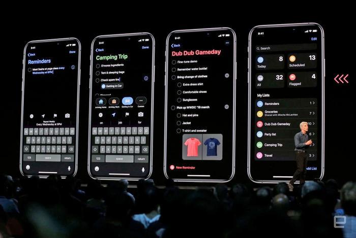 Chế độ Dark Mode có trong iOS 13.