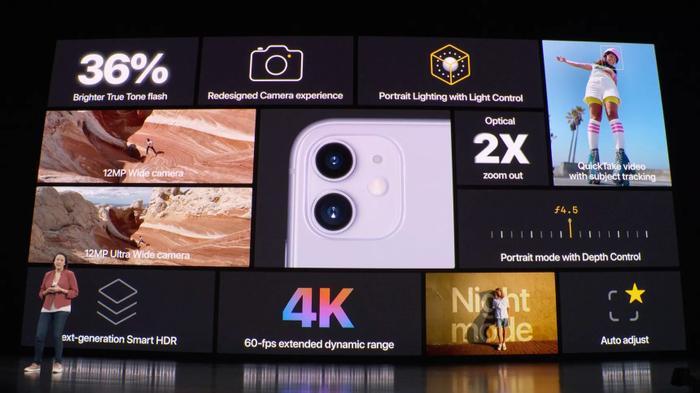 Cameraselfie trên iPhone 11 cũng có khả năng quayvideo chậm (slow-motion) độ phân giải 4K 60 khung hình/giây.