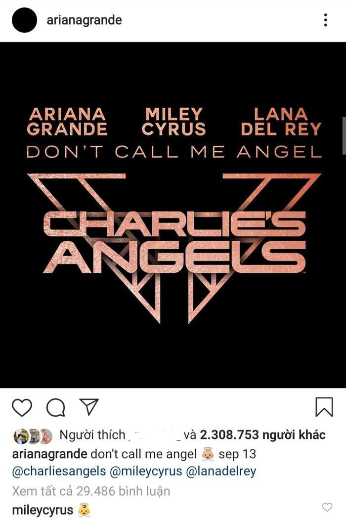 Ariana Grande mới đây đã chính thức cho ra mắt teaser MV Angel hợp tác cùng Miley Cyrus và Lana Del Rey.