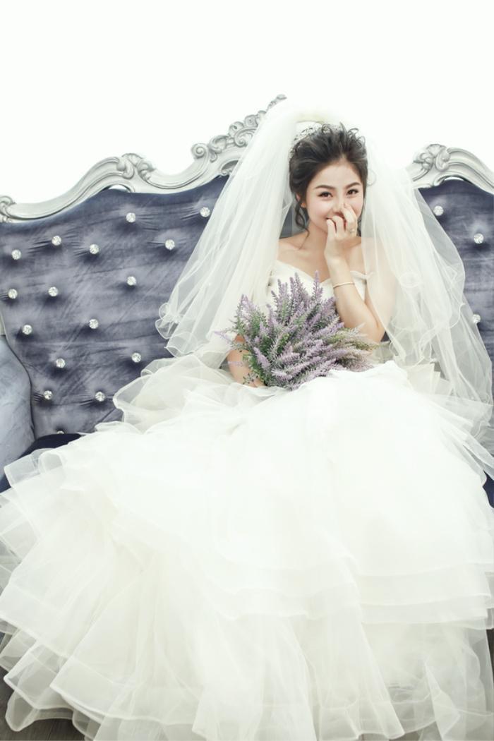 Nam Thương xinh tựa công chúa trong ngày cưới của mình