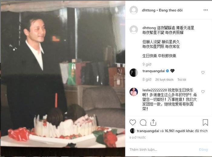 Mượn ca từ Chỉ nguyện người dài lâu, Đường Hạc Đức chúc mừng sinh nhật Trương Quốc Vinh tuổi 63 ảnh 1
